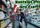 KNOCKING ITEMS INTO STRANGERS SHOPPING CARTS PRANK!!